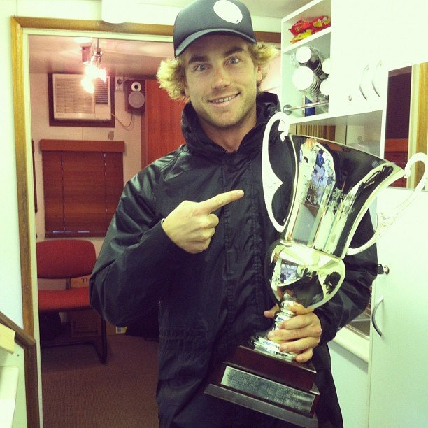 Hayden Quinn got his hands on the City 2 Surf trophy. Source: Instagram user hayden_quinn