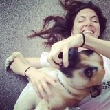 Whitney Cummings let loose with a playful pup. Source: Instagram user therealwhitney