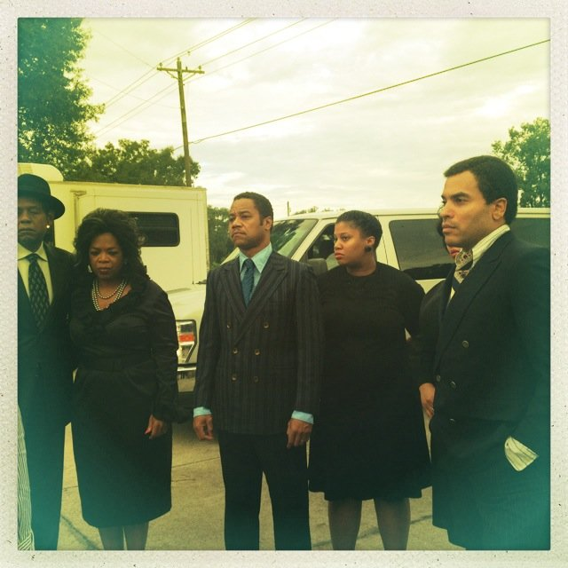 Lenny Kravitz tweeted this photo while on the set of The Butler. Source: Twitter user LennyKravitz
