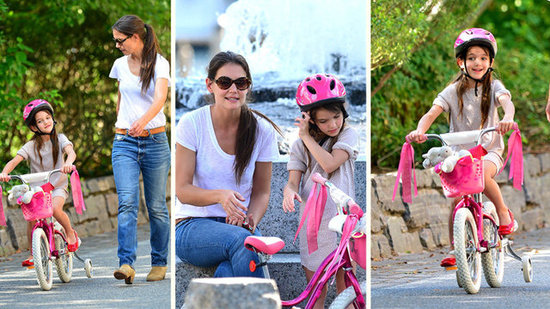 Video: Watch Katie Holmes Teach Suri How to Ride a Bike