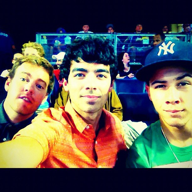 Two-thirds of the Jonas Brothers, Joe and Nick, snapped a quick portrait. Source: Instagram user adamjosephj