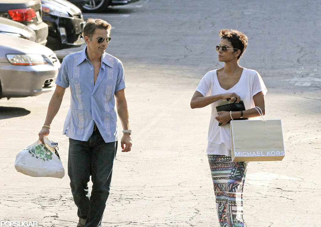 Halle Berry and Olivier Martinez were out and about together in LA.