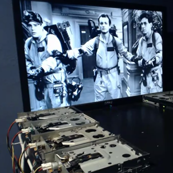 Ghostbusters Theme on Floppy Drives