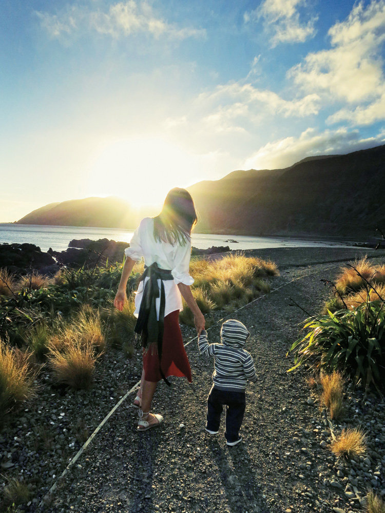 Orlando Bloom snapped this photo of his wife and son in New Zealand in August last year.