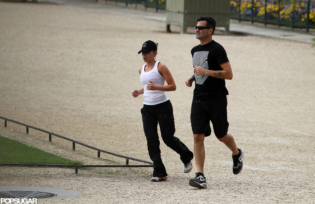 Scarlett Johansson went on a jog with Nate Naylor.