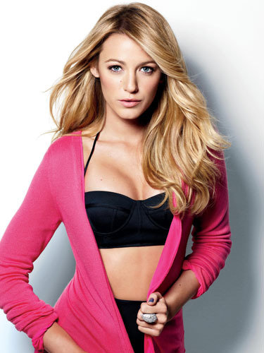 Blake Lively wore a bikini top for a December 2009 US Marie Claire shoot.