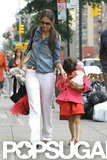 Katie Holmes held hands with Suri Cruise in NYC.