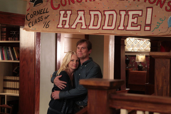 Kristina (Monica Potter) and Adam (Peter Krause) will have to send their daughter off to Cornell this season.