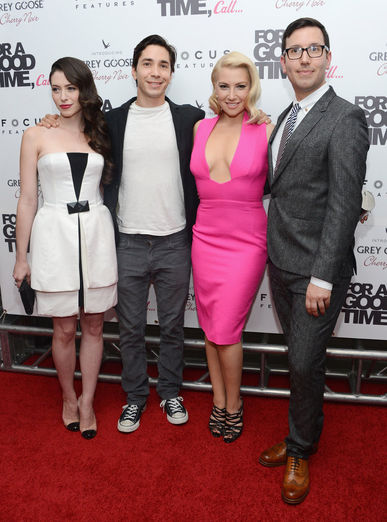 Lauren Miller, Justin Long, Ari Graynor and Jamie Travis posed for photos before the screening.