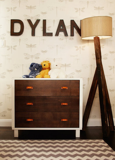Industrial Lettering in Baby Dylan's Hip Nursery