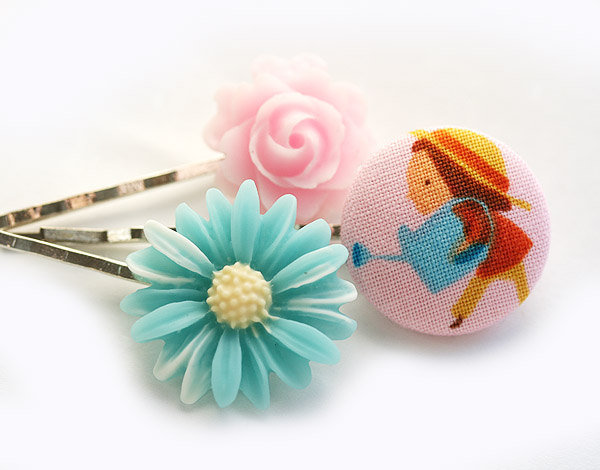 Little Gardener Hair Pin Set ($12)