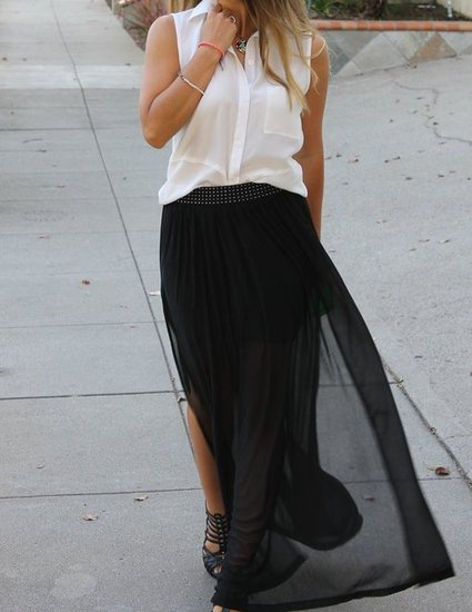 Sheer H&M Maxi Skirt. Sheer Maxi Skirt. How to wear a Sheer Maxi skirt