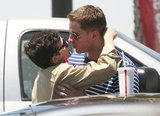 Ginnifer Goodwin and boyfriend Josh Dallas kissed after stopping by an LA Jack in the Box in July.