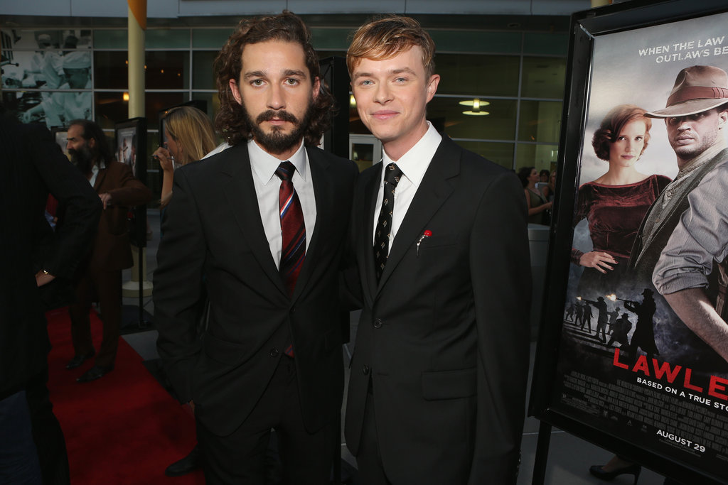 Costars Shia LaBeouf and Dane DeHaan posed at the LA premiere of Lawless.