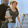Selena Gomez on Movie Set in LA