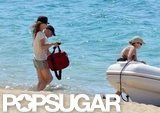 Vanessa Paradis Vacations in a Black Bikini in France