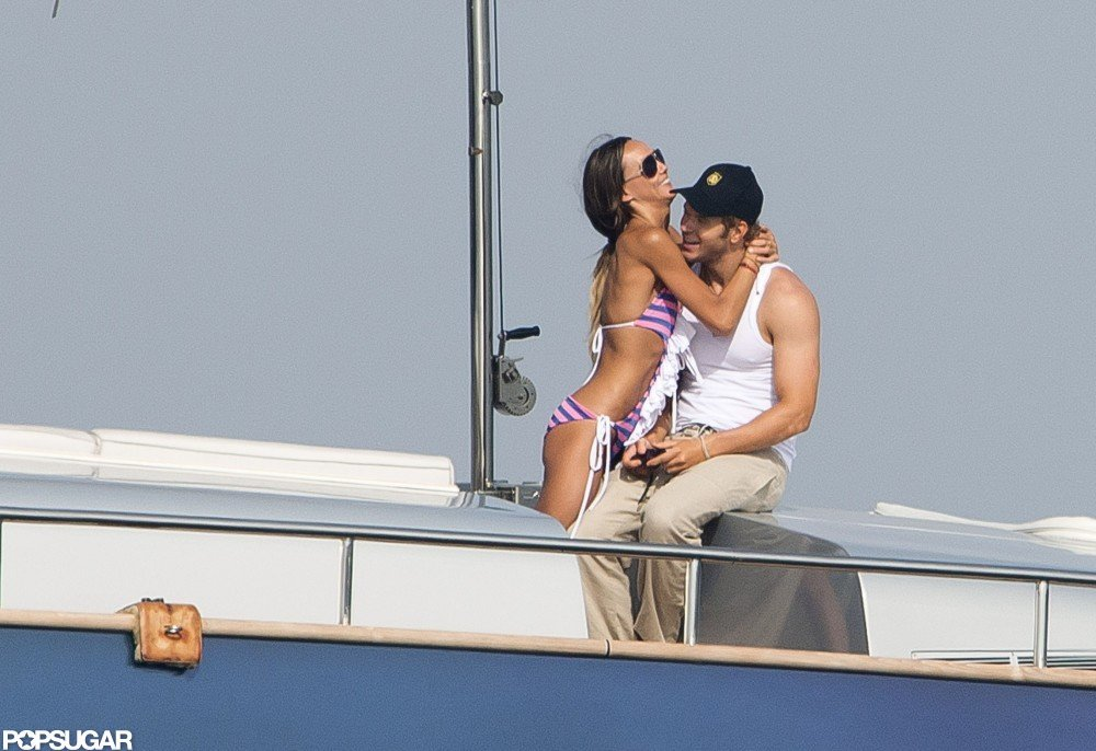 Kellan Lutz and girlfriend Sharni Vinson vacationed in Saint-Tropez in July.