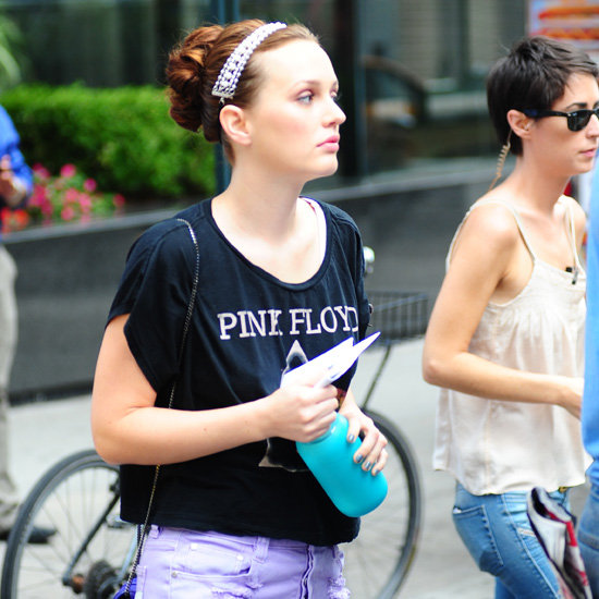 Leighton Meester and Penn Badgley Shoot Gossip Girl