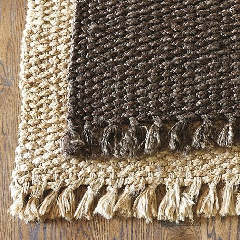 This Braided Jute Rug ($39-$699) by Ballard Design is surprisingly soft on bare feet and manages to be superdurable and elegant.