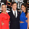 Joseph Gordon-Levitt Pictures at NYC Premium Rush Premiere With Jamie Chung and Dania Ramirez