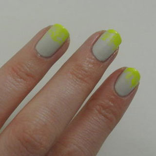 DIY Manicure and Nail Art: Neon Ombre Nails Using Miss Shop Nail Polish and Kit Cosmetics