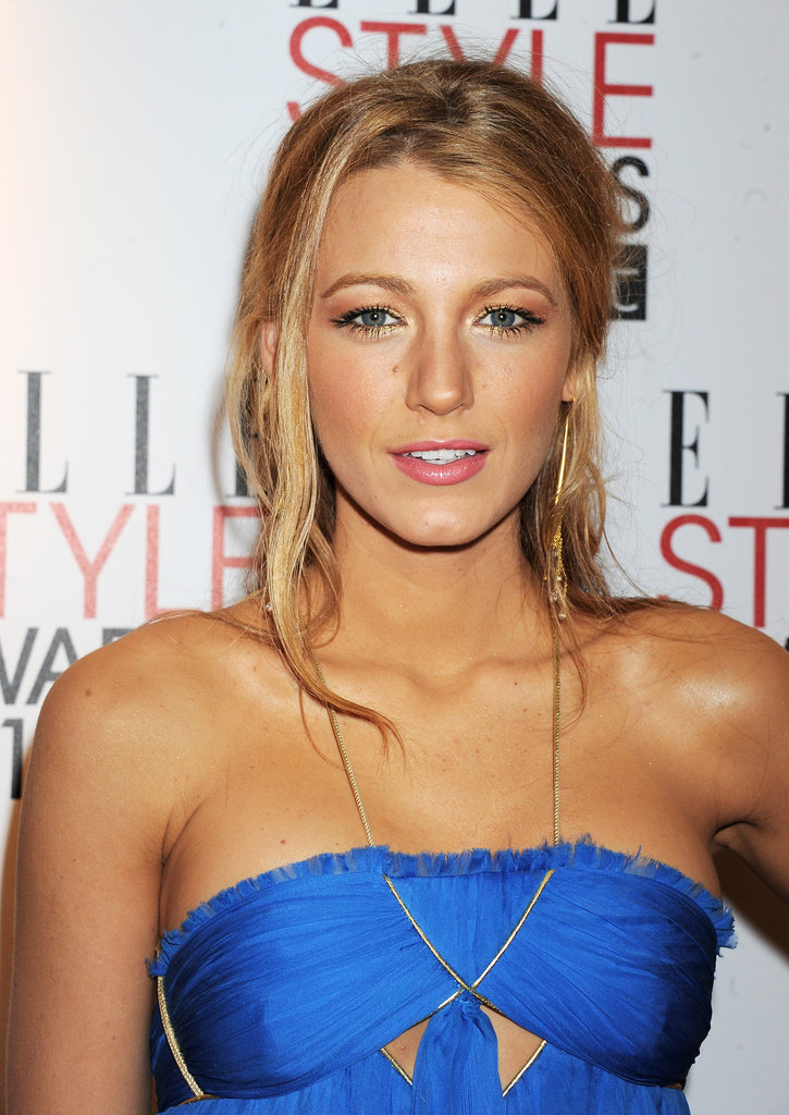 Blake took a risk at a 2011 event, matching the gold detailing on her royal blue gown to both her earrings and eye makeup. As you can see, it totally paid off.