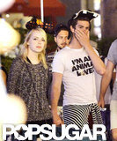 Emma Stone and Andrew Garfield got into the spirit at Disneyland wearing hats.