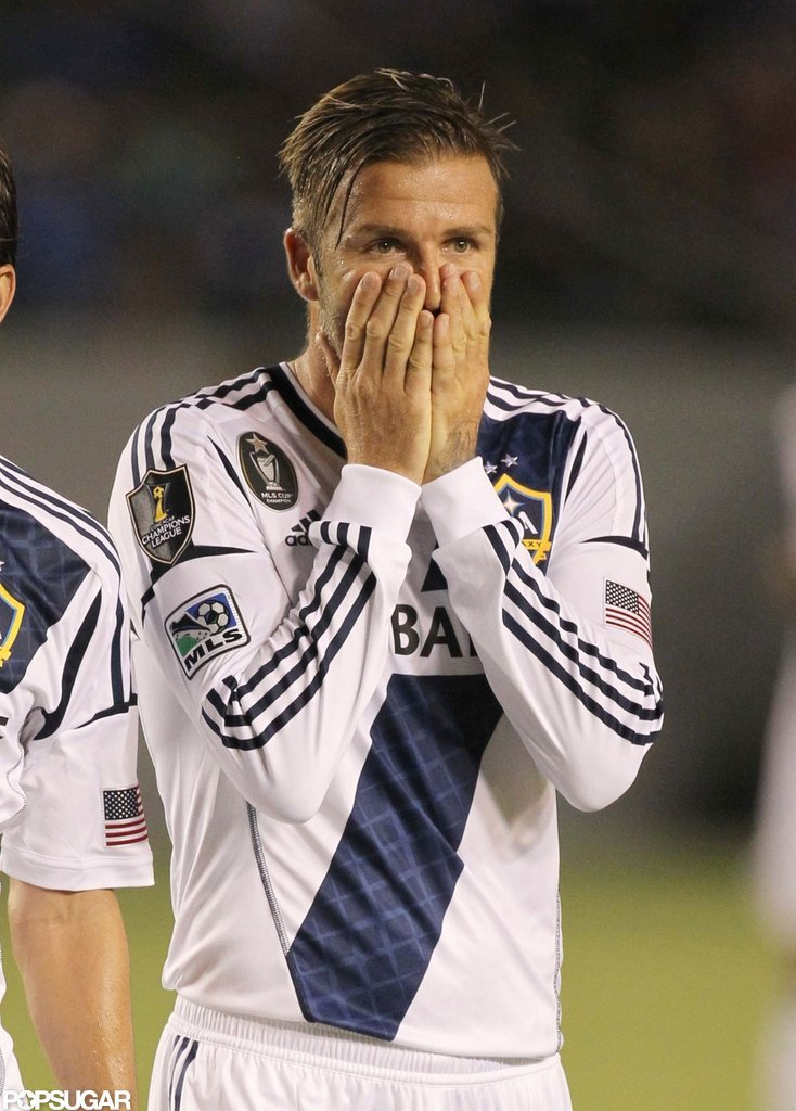 David Beckham Scores Big and Celebrates on the Field