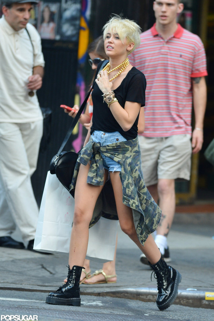 Miley Cyrus Is Blinged-Out and Blond For a Manhattan Day
