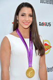 Olympic gold medalist Aly Raisman attended the Bachelorette premiere in LA.