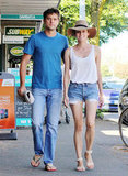 Diane Kruger was a Summer classic in cutoffs and a floppy sun hat — we're totally smitten with this look (and her arm candy's not so bad, either).