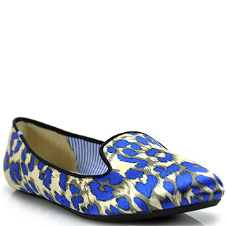 We're obsessed with the bold, royal-blue hue — the kind that will look extra special against wax-coated denim come September.  Charles Philip Blue Satin Leopard Printed Loafer ($78, originally $155)