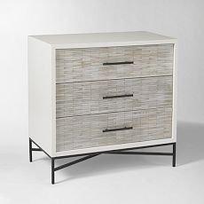 Wood Tiled 3-Drawer Dresser