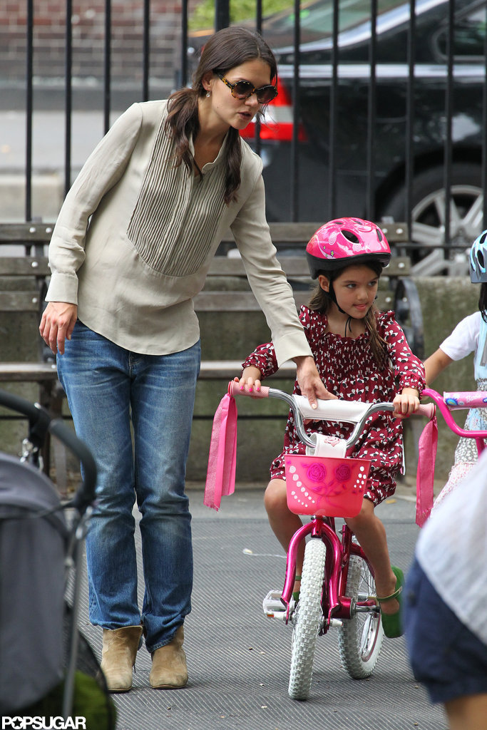 Suri Cruise Navigates Through a Fun Weekend With Katie Holmes