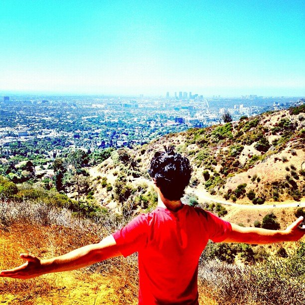 Joe Jonas enjoyed the fresh air in Runyon Canyon, CA. Source: Instagram user adamjosephj