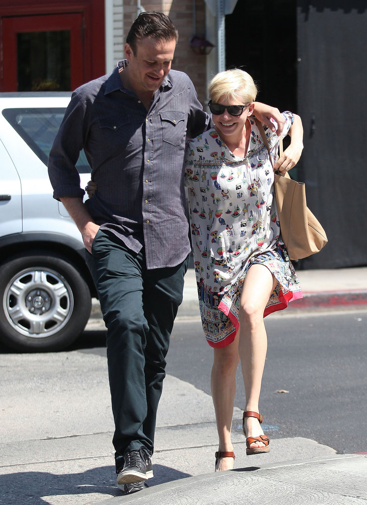 Michelle Williams and Jason Segel were still going strong this Summer and showed off some sweet PDA during an August lunch date in LA.
