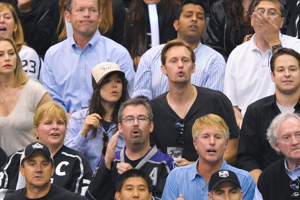 The LA Kings made it to the Stanley Cup finals, and before they took home this year's NHL championship title, some of Hollywood's biggest stars came out to support the hometown team. Alexander Skarsgard, Ellen Page, Kate Hudson, and Matthew Perry were among the famous faces spotted cheering on the team inside the Staples Center.