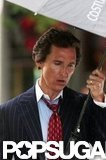 Matthew McConaughey sported a suit and tie.