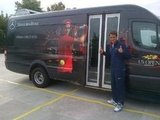 Roger Federer found a bus with his image plastered on the side.  Source: Facebook user Roger Federer