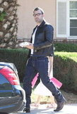Hot Dad Ben Affleck Wears a Leather Jacket With Jennifer and the Kids