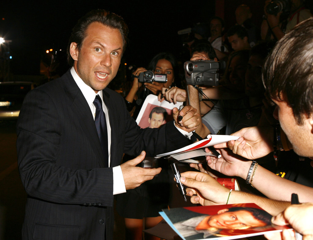 Christian Slater signed autographs in 2006.