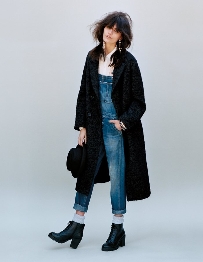 Overalls remain a flashback staple via Topshop Fall 2012.