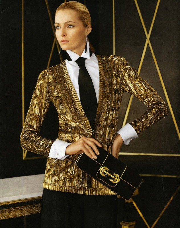 What do you think of this gilded Ralph Lauren cardigan?