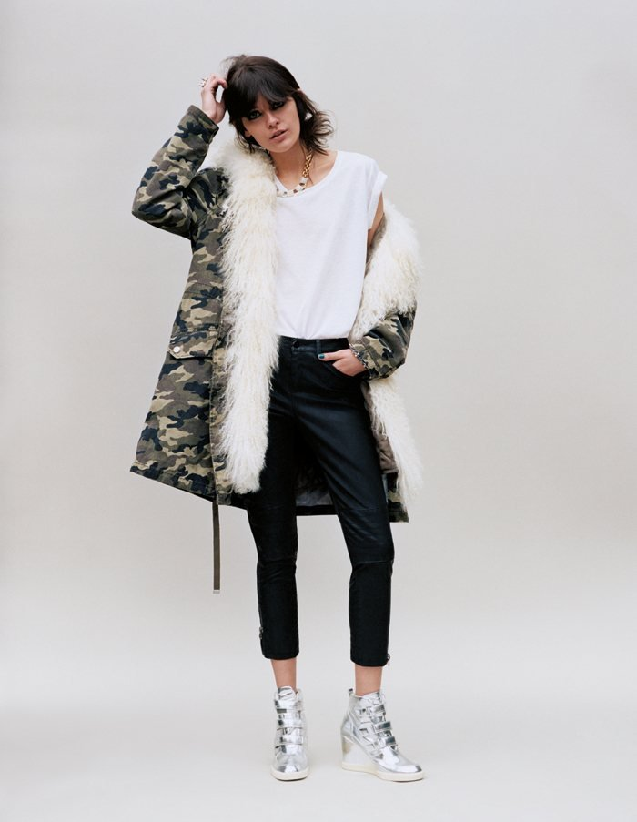 Metallic pumped-up kicks and a shearling-lined camouflage jacket? We're sold on Topshop's Fall lineup.