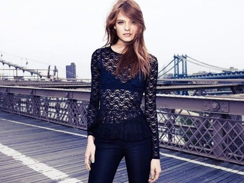 A little peekaboo lace proves super sexy in the H&M Divided campaign.