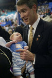 Then-Senate Majority Leader Bill Frist provided some support to a baby on the floor of the 2004 Republican Convention in NYC.