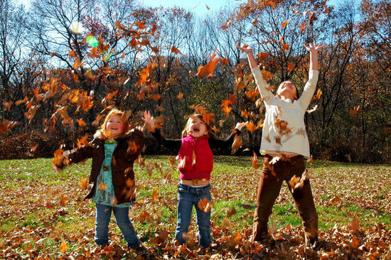 All the Kids Tossing Leaves