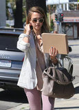 Jessica Alba ran errands in Beverly Hills.