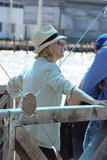 Naomi Watts waited on the dock.