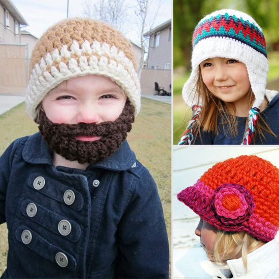 8 Adorable Handmade Knit Hats For Tots